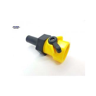 Scuba Support BDC en Wing Spoel connector met kraan