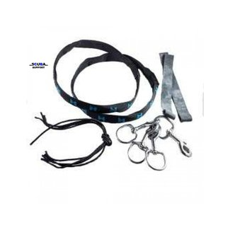 Halcyon SM Rigging Kit includes 2 Tank Bands with Nylon Cover and two 1 Inch Bolt Snaps