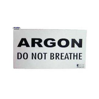 "Halcyon ARGON: ""DO NOT BREATHE"" Warning Decal"