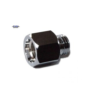 Trident Adapter for HP hose to mini pressure gauge 7/16