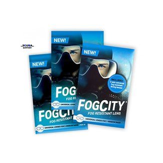 FogCity FogCity fog resistant lens kit for 1-window mask