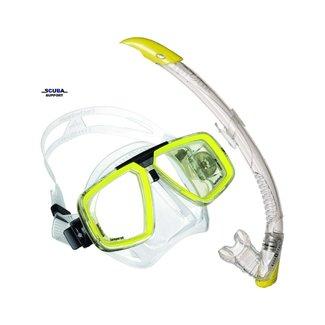 Aqua Lung Snorkel Set Look TS Hot Lime + Zephyr