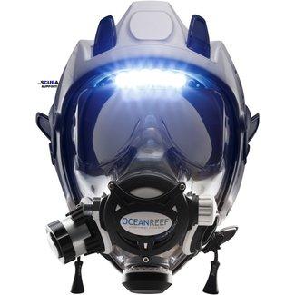 Ocean Reef Full face masker Ocean Reef Space Extender met Visor Lights