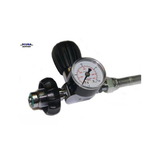 DirZone Overvulslangs DIN-DIN met ontluchtings-knop en manometer 500cm