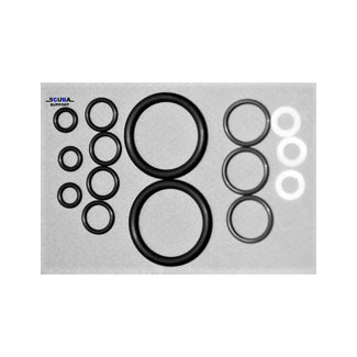 Scuba Support O-ring Kit for double valve with manifold incl. teflon rings - O2 compatible