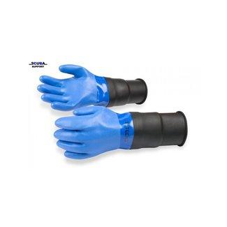 SI TECH Droogpak handschoenen Blauwe PVC Verlengde manchet