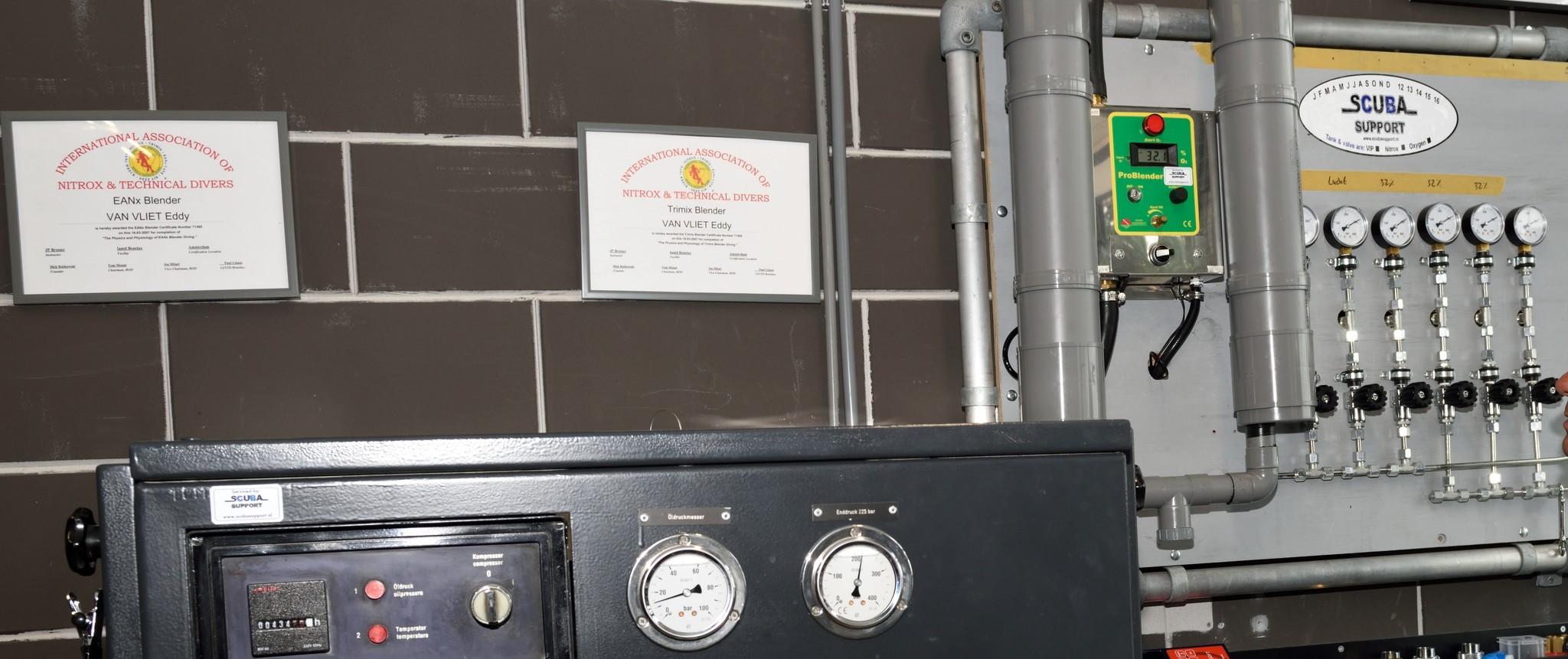 Vulstation voor Perslucht, Nitrox en Trimix tot wel 300 bar