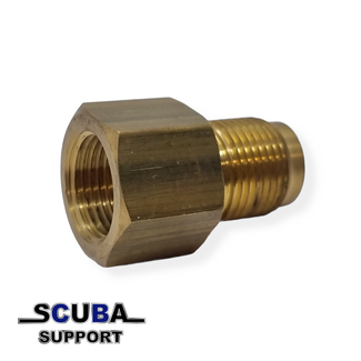 Scuba Support Oxygen Din converter Female bullnose and  Male DIN300