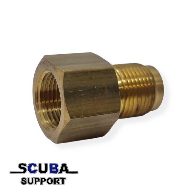 Scuba Support Zuurstof Din converter Female bullnose en Male DIN300