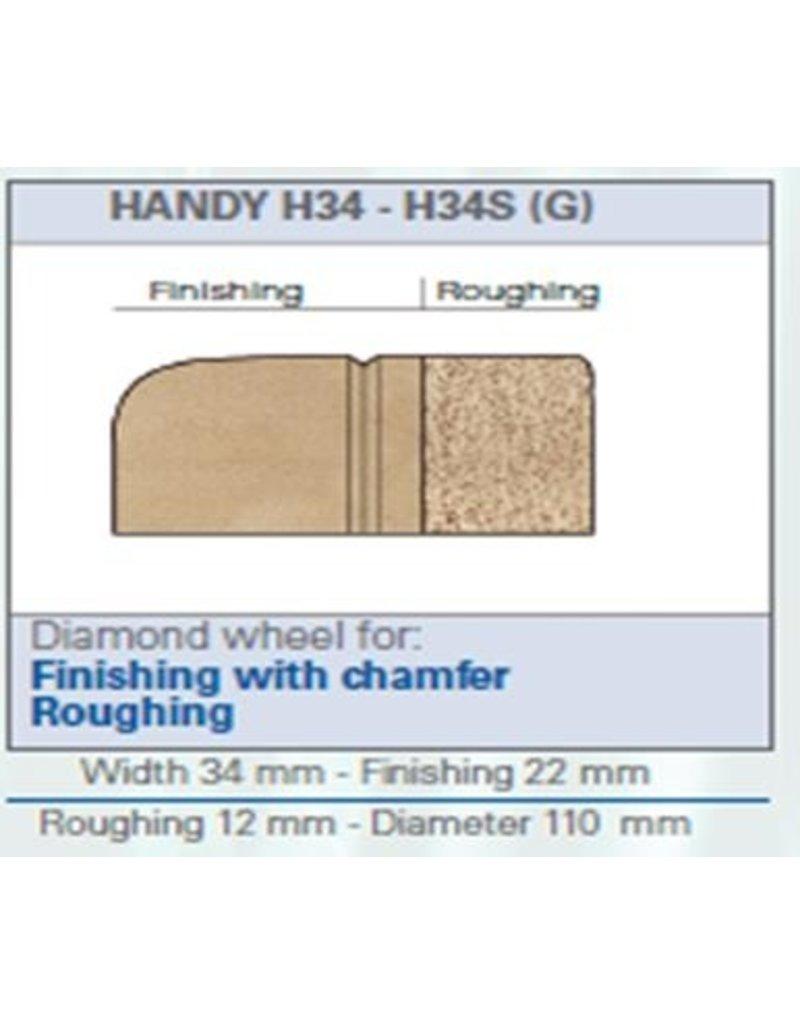 ROM Handy H34SE (G) waterslot/-leiding met sensor naslijpen facet en voorslijpen