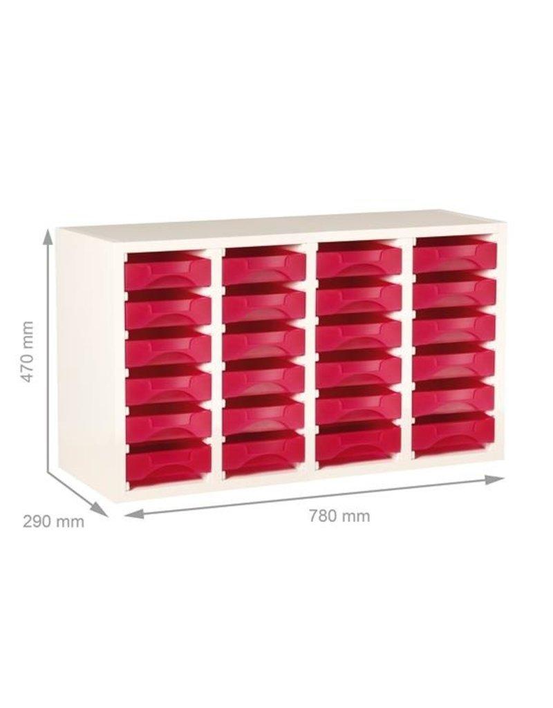 Starbox Meubel voor 4x6 Starbox werkbakjes, hout wit fineer