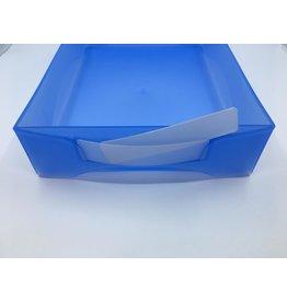 Boxop werkbakkaartjes plastic 30 stuks, 2x8cm