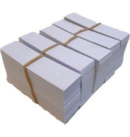 Werkbakkaartjes 2 x 8 cm papier voor Boxop bakjes 500 stuks