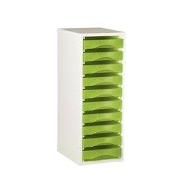 Starbox meubel voor 10 werkbakjes plateau (A4 formaat)
