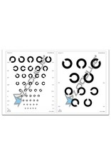 Oculus Oculus landoltse ringen visuskaarten wit (1meter), set 2 stuks