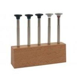 Schroevendraaierset, 5-delig houten blok