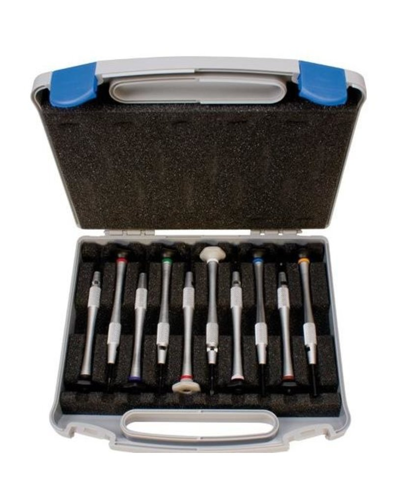 10-delige set schroevendraaiers in koffer