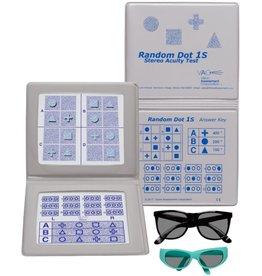 Oculus Oculus Random Dot 1S stereotest geometrische vormen incl. polarisatiebril volwassene en kind