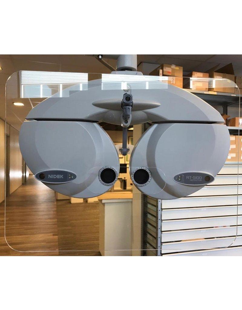 EyeVinci ademscherm groot voor de phoropter