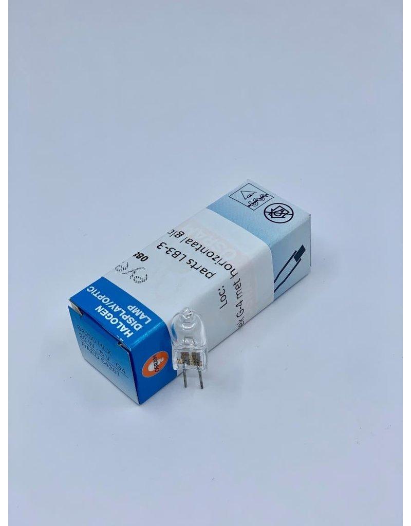Lamp instekk G4 met horizontaal gloeispiraal 6V / 20W