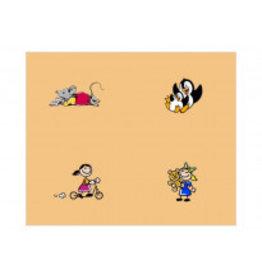 Occlusie-folie voor kinderen met afbeeldingen, meisjes