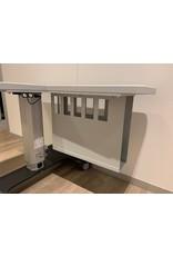 Frastema Frastema tafel voor OCT met L-blad, wielen, PC steun en 3 voudig stopcontact