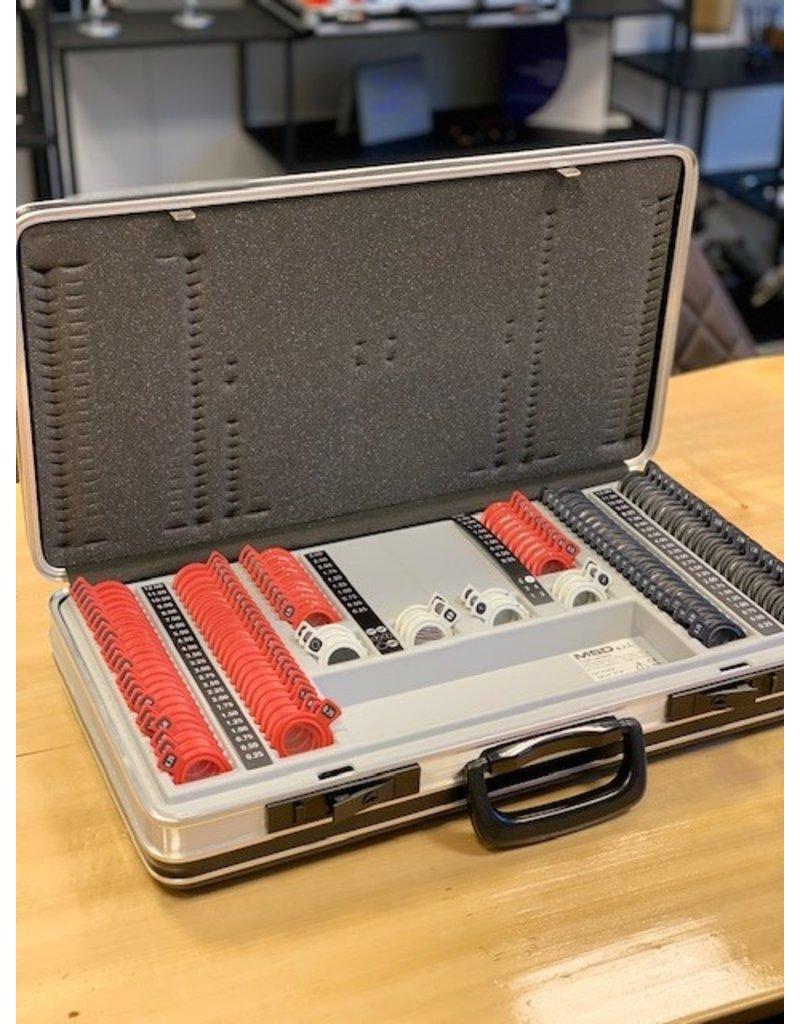 Demo MSD 198 delige pasglazenset kunststof incl. koffer