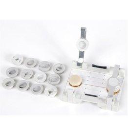 LessStress glashouder met verschillende cuphouder adapters