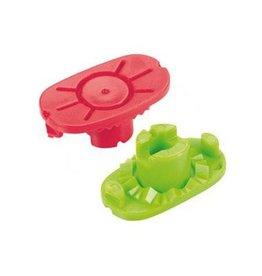Nidek Nidek Pliable cup / slijpmachine cups (rood of groen) 10 stuks