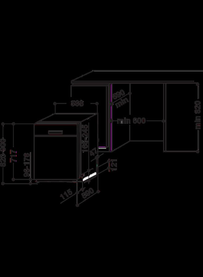 Bauknecht OBUC ECOSTAR 5320 onderbouw vaatwasser