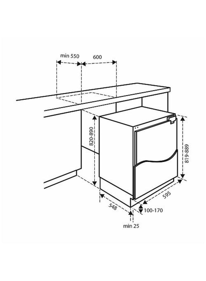 Inventum IKV0821D  onderbouw koelkast 82 cm