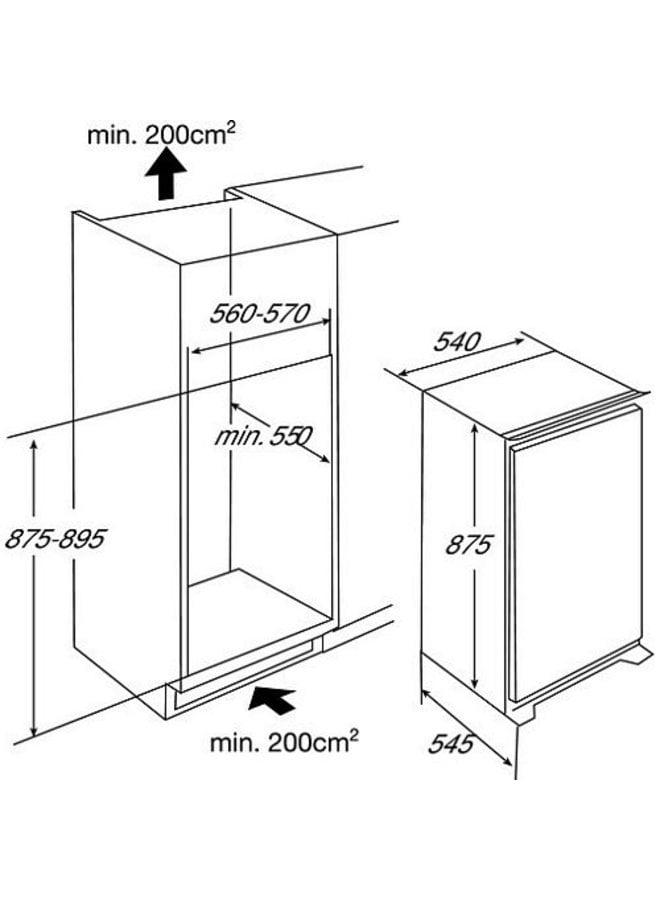 Etna EEK146A inbouw koelkast 88 cm