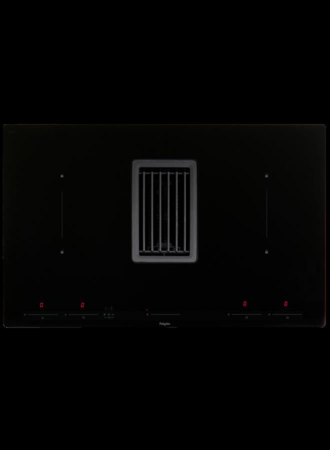 Pelgrim IKR4082F Inductiekookplaat met afzuiging, 83 cm breed