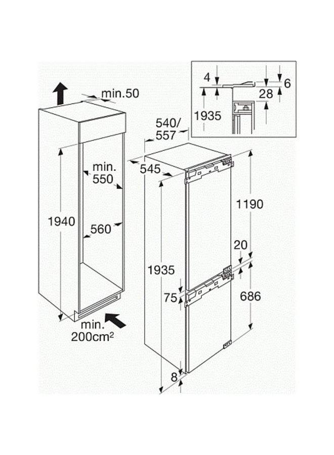 ATAG KD62194B koelvriescombinatie 194 cm