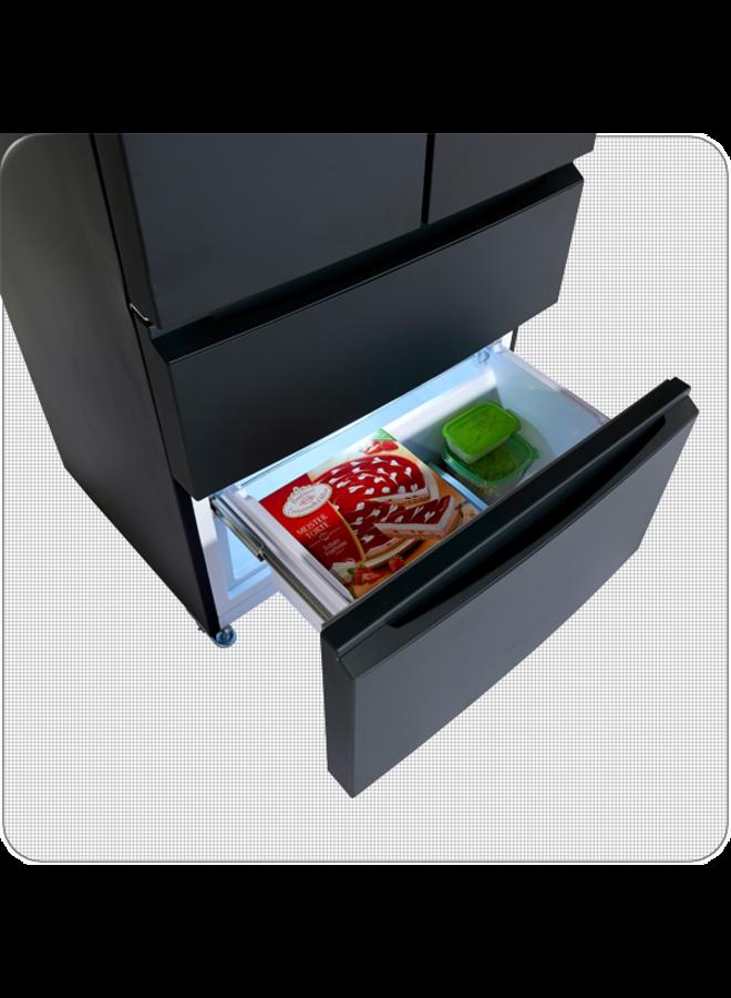 Wolkenstein SFD540NF B Amerikaanse koelkast zwart