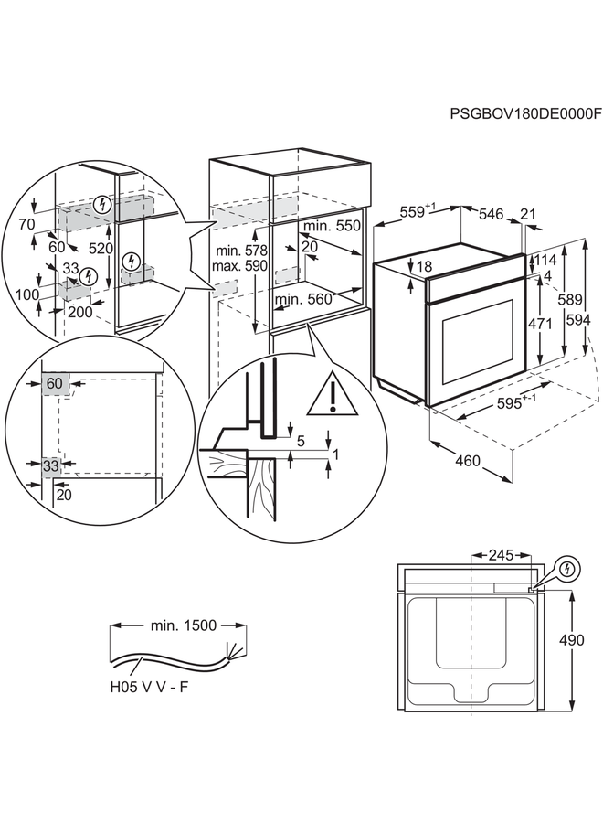 AEG BPB435020M inbouw oven PYROLYSE