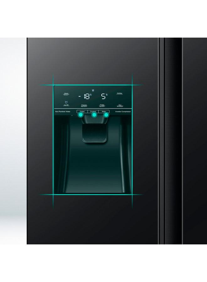 Hisense RS694N4TFE Amerikaanse koelkast Zwart