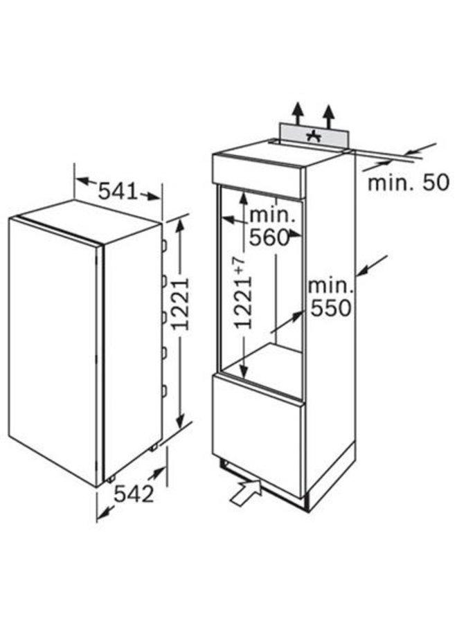 CONSTRUCTA CK60444 inbouw koelkast 122 cm