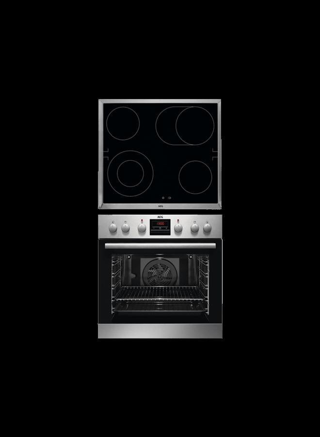 AEG KOMBI 2001 inbouw oven met kookplaat set
