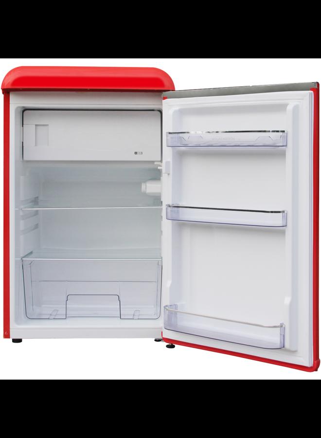 Wolkenstein WKS125RT FR Retro koelkast Rood