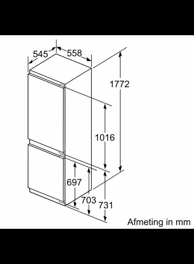 Siemens KI86SADE0 inbouw koelvriescombinatie 178 cm