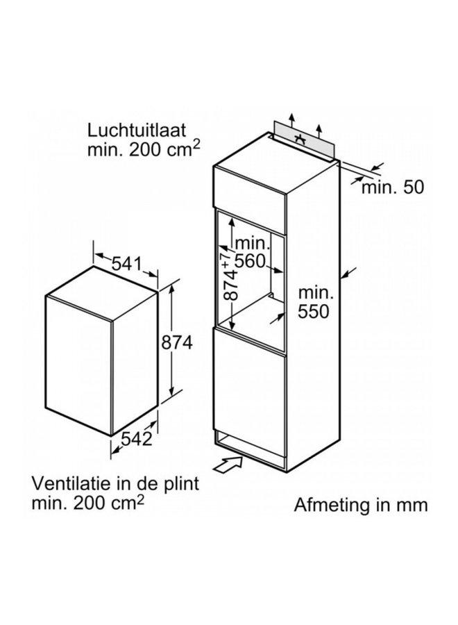 Neff K1514XSF0 inbouw koelkast 88 cm