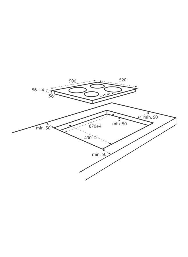 Inventum IKI9035 inbouw Inductiekookplaat 90cm
