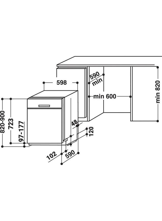 Bauknecht BUO 3O41 PLT X onderbouw vaatwasser