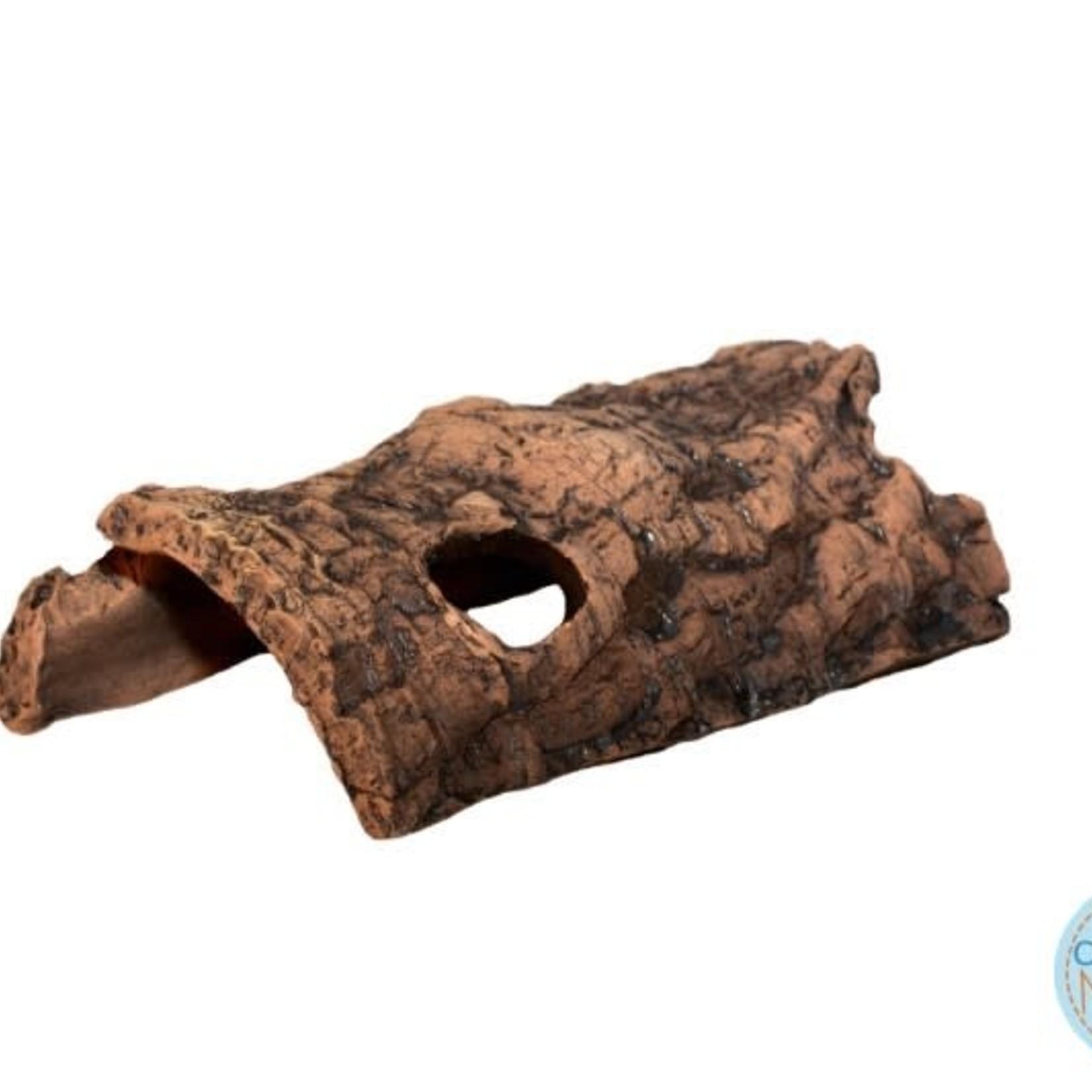 Ceramic Nature Half-Log