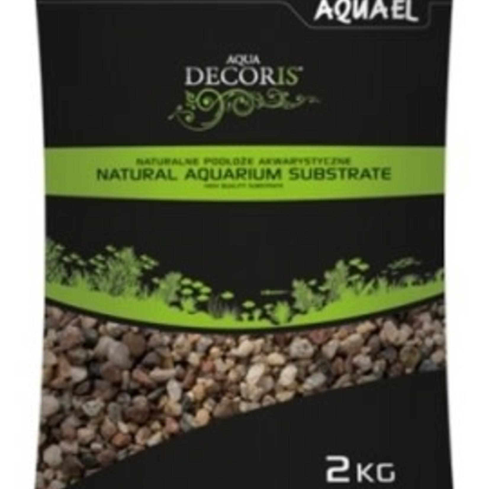 AquaEl Gravier NATUREL MULTICOLORED 2kg