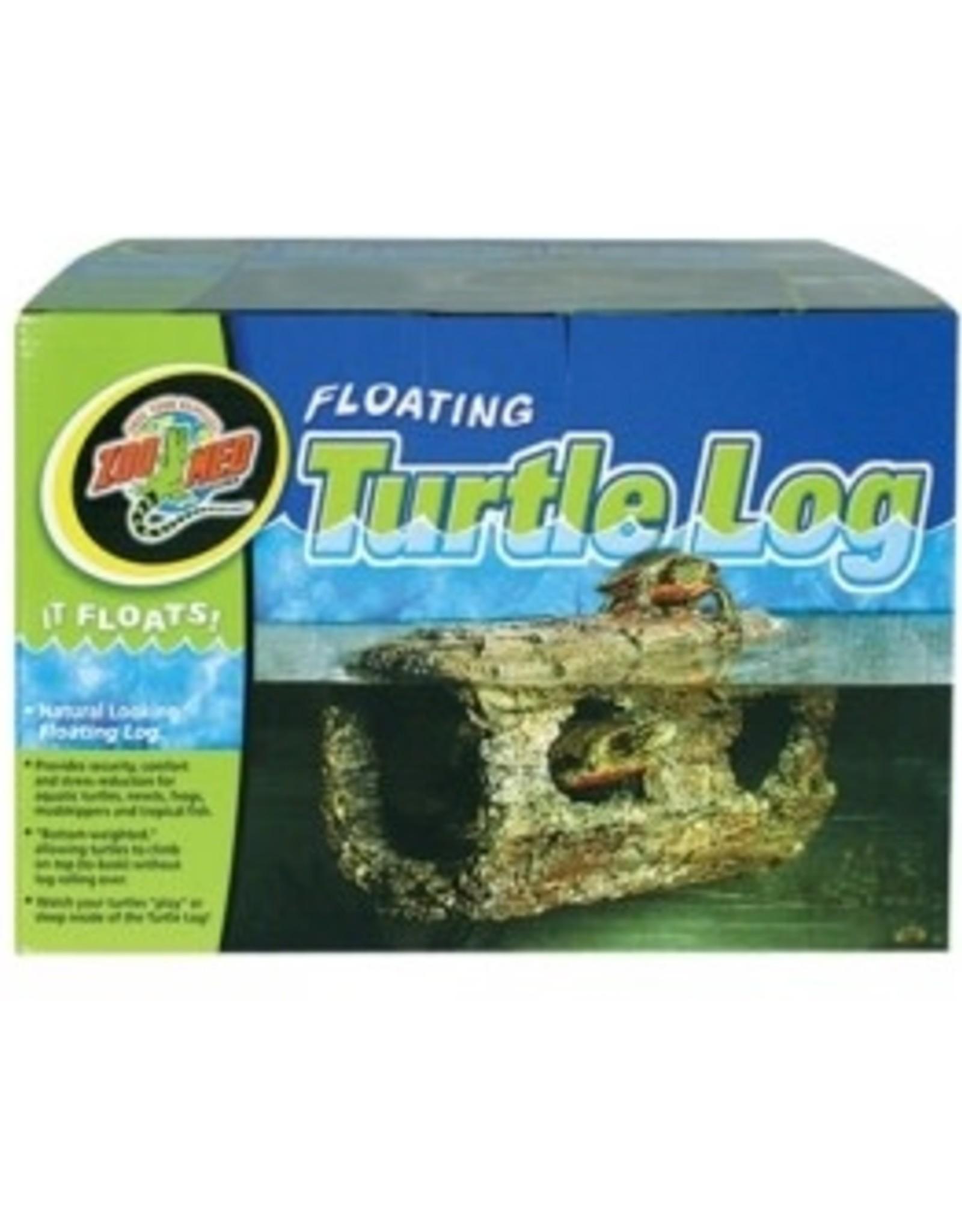 Zoomed Buche Floating Turtle Log
