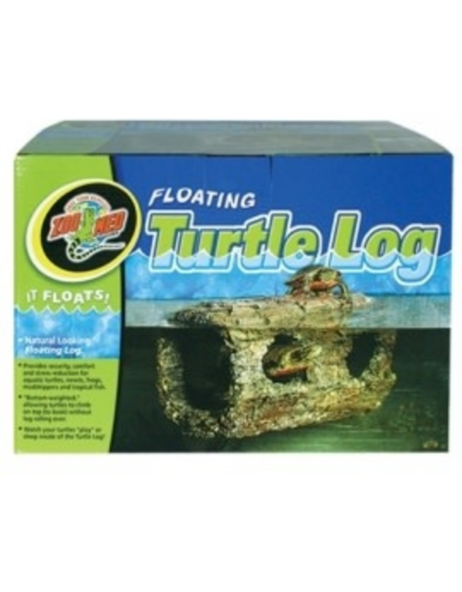 Zoomed Buche Floating Turtle Log