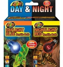Zoomed LAMPE DAY & NIGHT REPTILE BULB COMBO PACK 60W-----