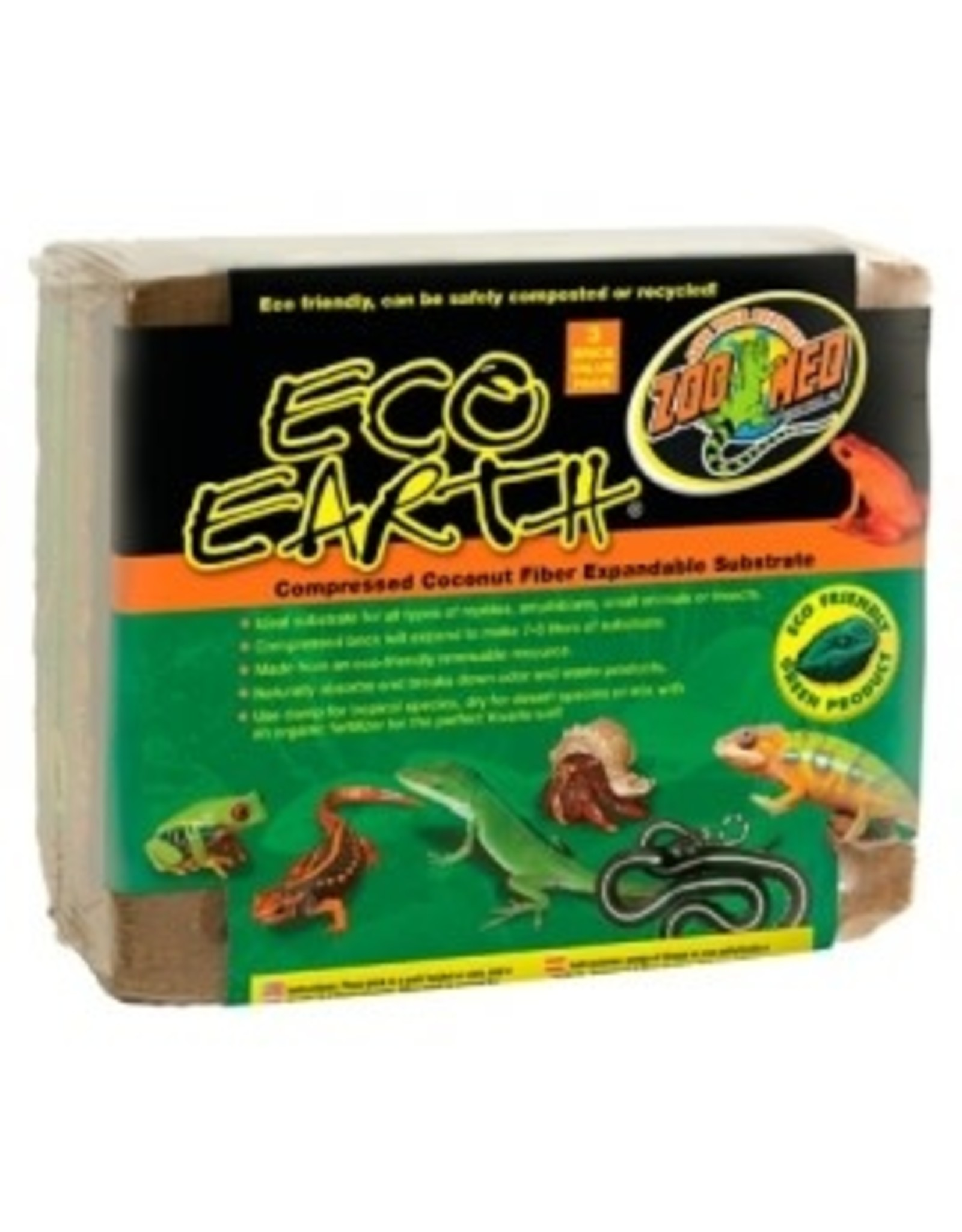 Zoomed Eco Earth 3 pack (2+ 1 offert) Coco compressé